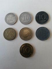 10 Pfennig von Kaiserreich bis