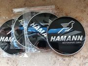 4x Metall Aufkleber Hamann