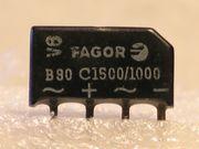 Silizium -Brückengleichrichter B80 C1500 1000