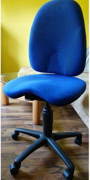 Bürostuhl Schreibtischstuhl in blau