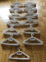 Kleiderbügel Kunststoff weiß 124 Stück