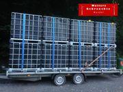 1000l IBC Container schwarz Wassertank