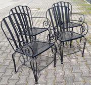 Gartenstuhl Set 4 Eisenstühle