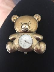 alte Reviera Taschenuhr Teddybär Vintage