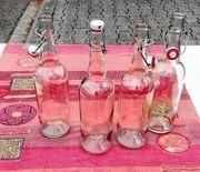 Glas-Saftflaschen mit Bügelverschluss