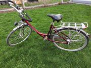 Damenrad 7-Gang Weinrot