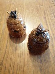 Zwei Honigporzellanfiguren