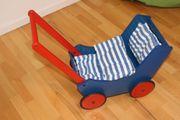 Haba Puppenwagen Lauflernwagen rot blau