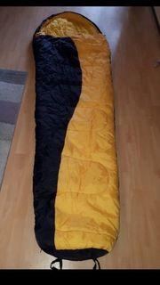 Schlafsack gelb schwarz