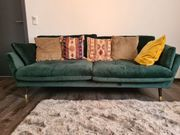 Samt Grün Couch