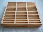 Verkaufe Kassettenregal aus Holz für