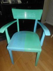 alter Stuhl Armlehnstuhl Sessel 50er