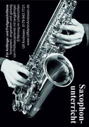 Saxophonunterricht - kostenlose Probestunde