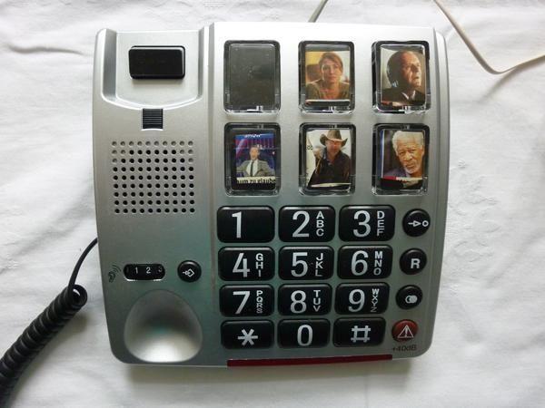 Audioline Bigtel 40 PLUS -Großtastentelefon mit Fototasten