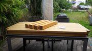 Vollholztisch aus Buchenholz 1 80m