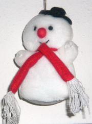 Kleiner Schneemann aus Plüsch von