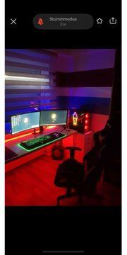 Gaming Setup 3 Monitore dxracer