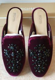 Damen Mules Loafers Slipper aus
