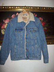 Vintage Jeansjacke mit Teddyfell - Gr