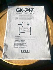 Akai GX 747 Service Manual