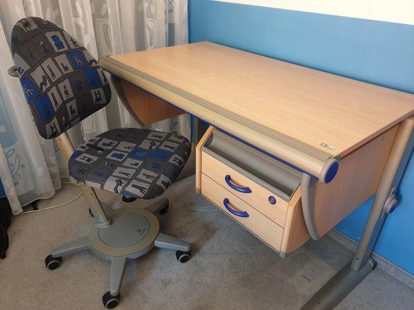 MOLL Schreibtisch Champion Buche mit Schreibtischstuhl Maximo in ...