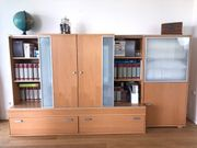 Hochwertige TV Wohnwand Ahorn Holz