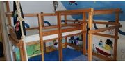 Doppelbett Kinderbett in L-Form von