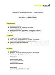 Schlosser Metalltechnik Blechbearbeitung