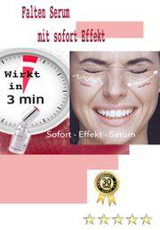 Falten- Serum strafft in Minuten