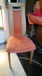 6 Esszimmerstühle in Buche Stoff