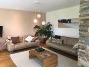 Couch aus Echtleder 2 Teilig