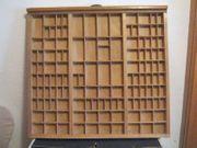 vintage Setzkasten Schublade aus Druckerei