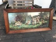 Altes Bild mit tollem Holzrahmen