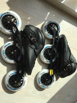 Neue WUR-Speedskates 3 x 125 mm mit MPC-Rollen, Gr. 41