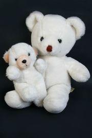 2 Teddybären Mutter mit Babybär