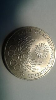 Silbermünze Olympiade 1972
