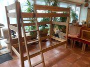 Kiefer Massiv Holz Hochbett 100X200