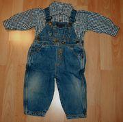 SET - Hemd Latz-Hose - Größe 74 - Jeans