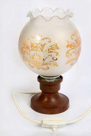 Tischlampe Plastikfuß Glasschirm vintage DDR