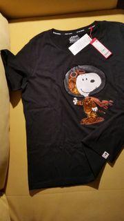 Neues schwarzes Snoopy-T-Shirt mit Pailletten