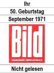 50 Geburtstag - Bild-Zeitung 27 9 1971