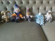 5 Harlekin Puppen
