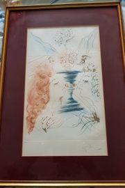 Salvador Dali 1904-1989 Radierung Let