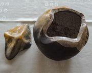 Keramikschale Keramikkugel mit Deckel Deko
