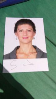 Sara Wagenknecht Autogrammkarte
