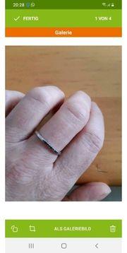 Miore Weissgoldring mit schwarz Diamanten
