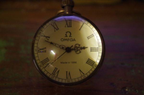 Mechanische Kristall Uhr Taschenuhr Kristall
