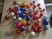 60 Christbaumkugeln -Sterne -Herzen- und