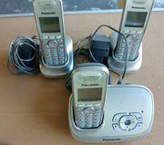 Panasonic 3 Telefone mit Anruf