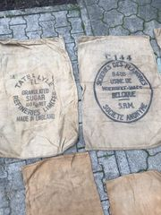 Alte Säcke bedruckt Jutesäcke Mehlsäcke